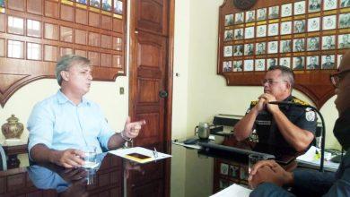 Foto de Segurança pública é pauta de reunião entre prefeito e comandante geral da PM